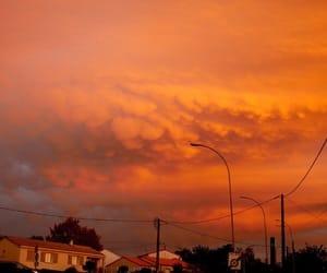 orange, aesthetic, and sky image
