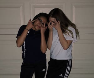adidas, best friends, and clothes image