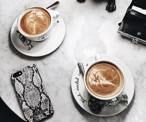 accessories, coffee, and fashion image