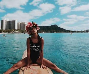 beach, board, and fun image
