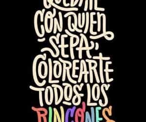 love, colors, and frases image