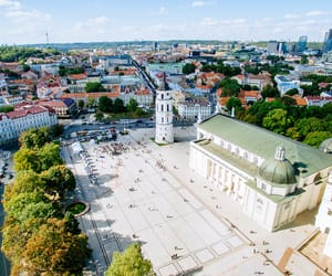 city, drone, and Lithuania image