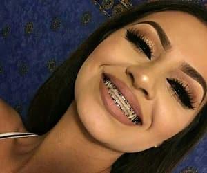 girl, braces, and makeup image