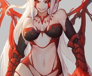 anime, demon, and girl image