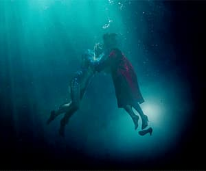 gif, the shape of water, and love image