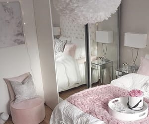 bedroom, decoration, and faux fur image