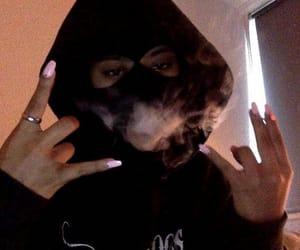 smoke, nails, and black image