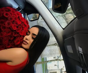 bouquet, red roses, and flowers image