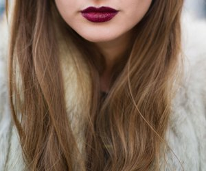 girl, lipstick, and mouth image