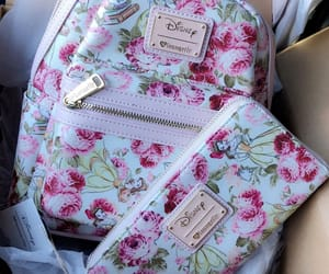 backpack, flowers, and princess image
