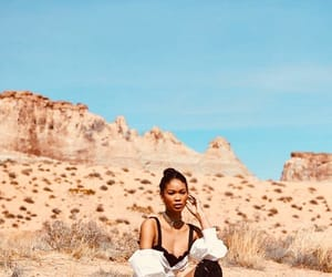 beauty, Chanel Iman, and desert image