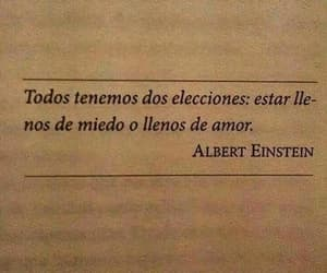 Albert Einstein, frases, and love image