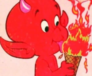 Devil, red, and fire image