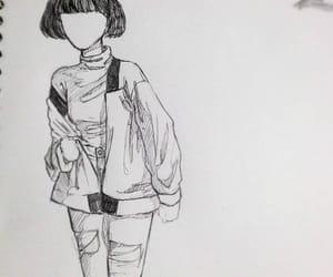 art, fashion, and fashion illustration image