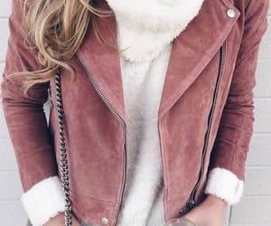 blonde, jacket, and rosegold image