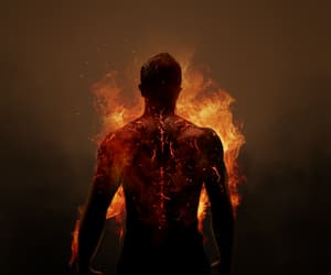 teen wolf, hellhound, and fire image