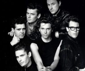 80's, band, and black and white image
