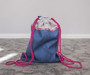 backpack, blue, and girls image