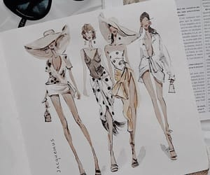 black, fashion, and fashion drawing image