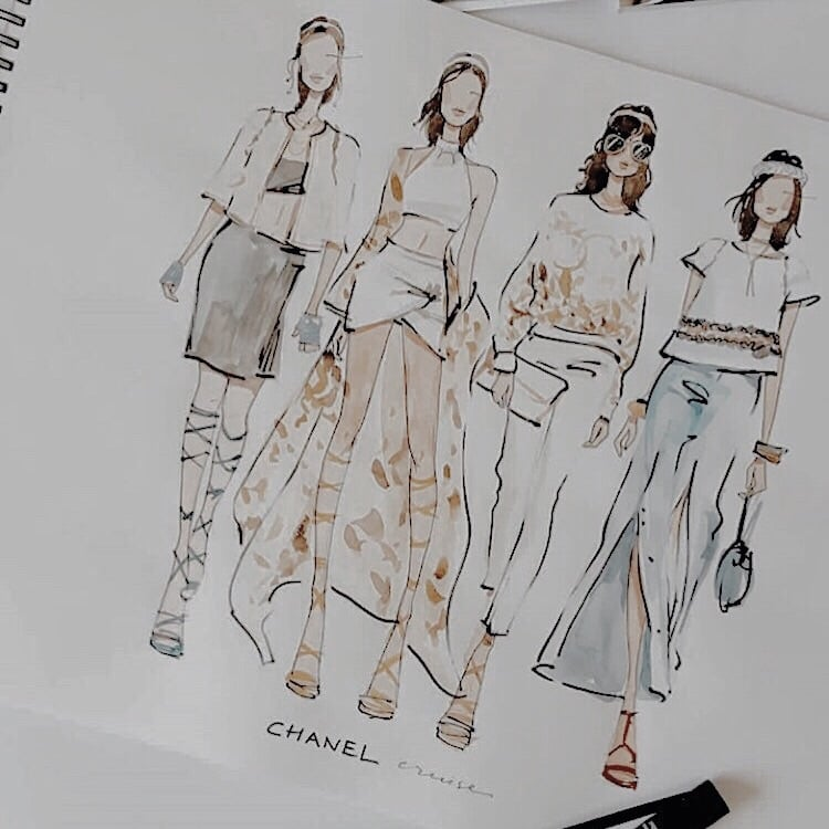 fashion drawing — marina sidneva on We Heart It