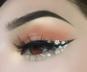 beauty, eyeliner, and flower image