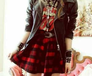 fashion, rock, and grunge image