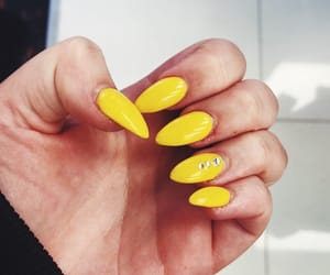 easter, nails, and yellow image