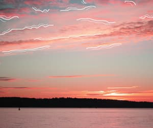 beautiful, ocean, and pink image