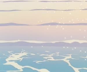 anime, gif, and sea image