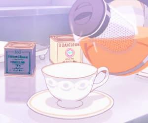 gif, anime, and tea image