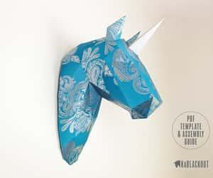 diy, papercraft, and unicorn image