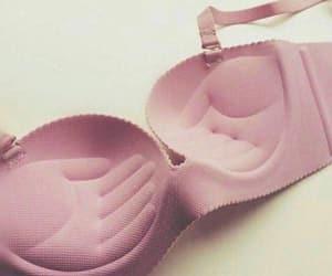 bra, pink, and underwear image