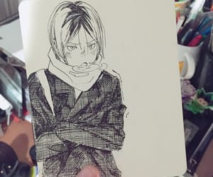 anime, fine art, and pen image