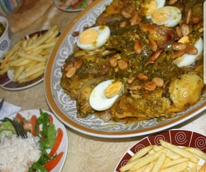 food, lunch, and moroccan image