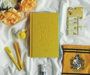 yellow, hufflepuff, and flowers image