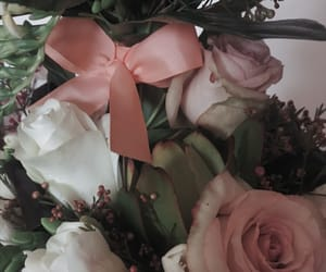 aesthetic, bow, and flowers image
