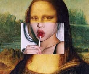 art, aesthetic, and mona lisa image