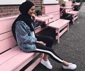 hijab, girl, and outfit image