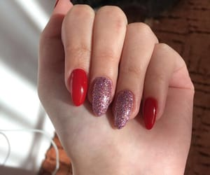 cat, glitter, and nails image