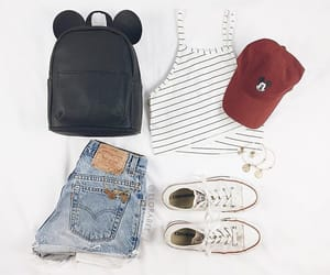 fashion, bag, and denim image