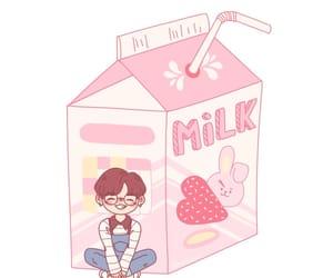 milk and strawberry image