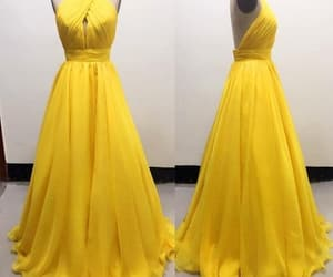 yellow prom dress image