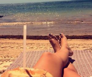 beach, coconut, and Dominican Republic image