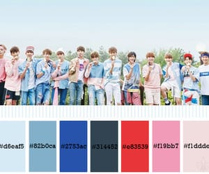 colour palette, kpop, and Seventeen image