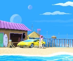 beach, car, and city image