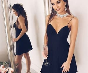 little black dress, party dress, and short dress image