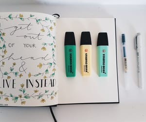 diary, flowers, and green image