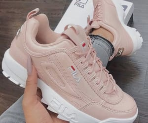 shoes, Fila, and pink image