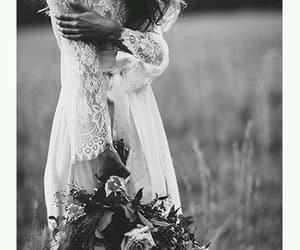 black and white, boho, and dress image