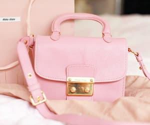 pink, bag, and miu miu image